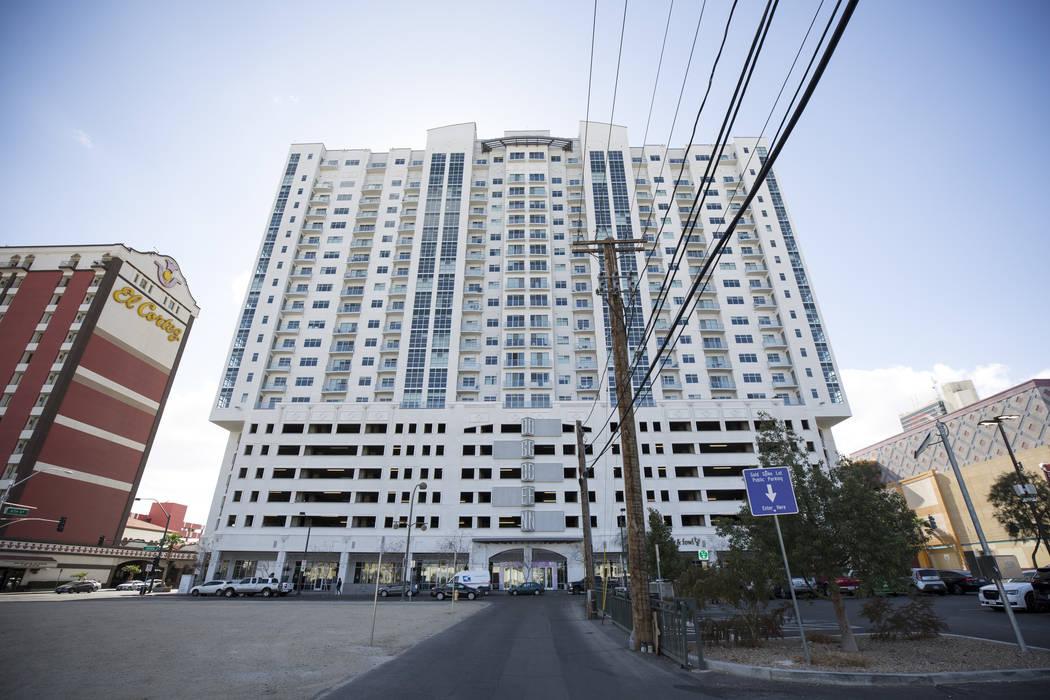 The Ogden Condominiums in downtown Las Vegas on Monday, Feb. 12, 2018. Richard Brian Las Vegas Review-Journal @vegasphotograph