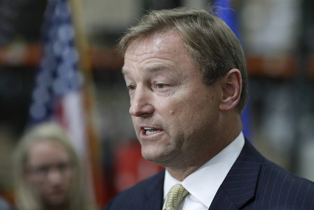Sen. Dean Heller, R-Nev., voted for the budget bill that was passed by Congress early Friday morning. (John Locher/AP, File)