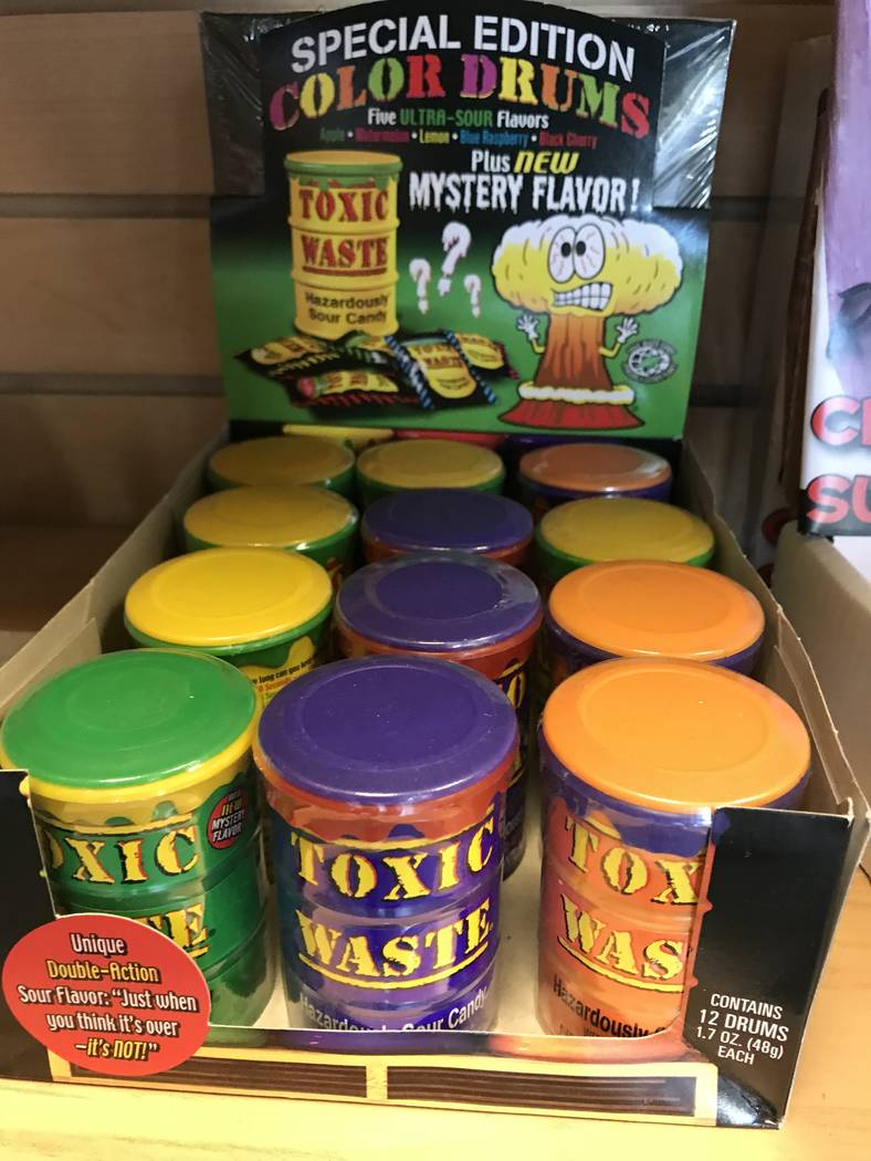 Al Mancini Toxic Waste sour candy at Chumlee's Candy on the Boulevard