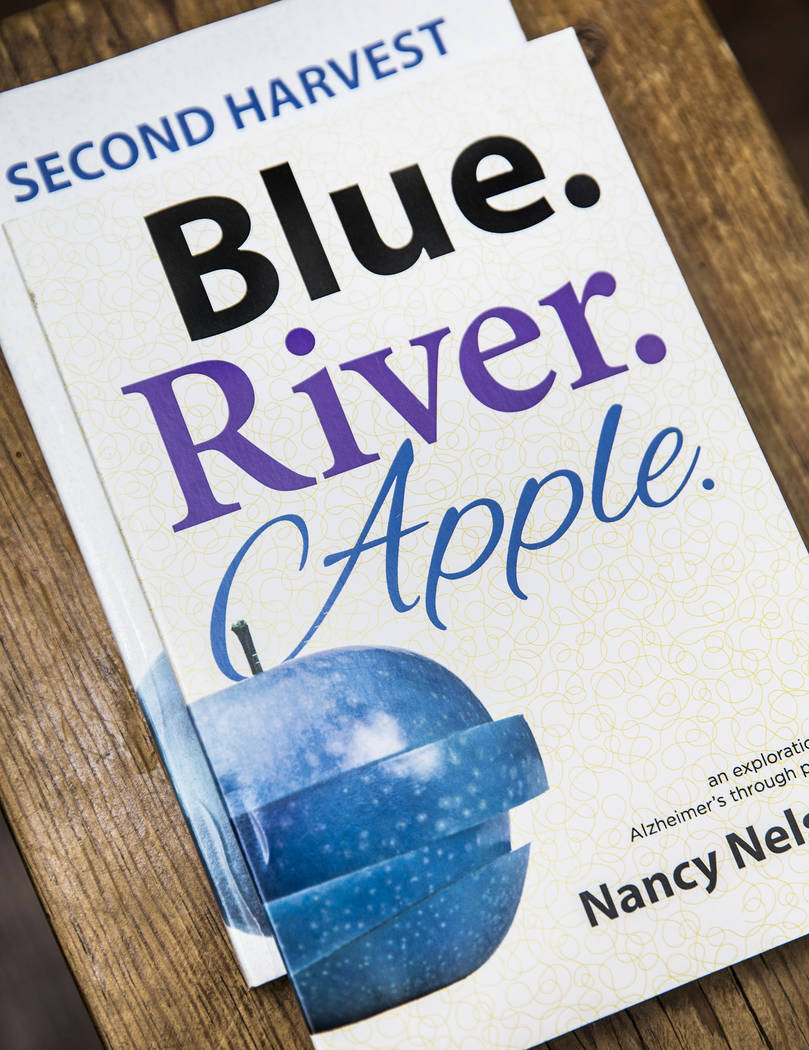 Blue.River.Apple: an exploration of Alzheimer's through poetry, by Nancy Nelson. Photo taken on Monday, February 5, 2018, at Nelson's home, in Las Vegas. Benjamin Hager Las Vegas Review-Journal @b ...