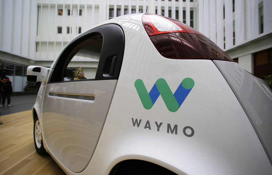 The Waymo driverless car is displayed during a Google event in San Francisco. (AP Photo/Eric Risberg, File)