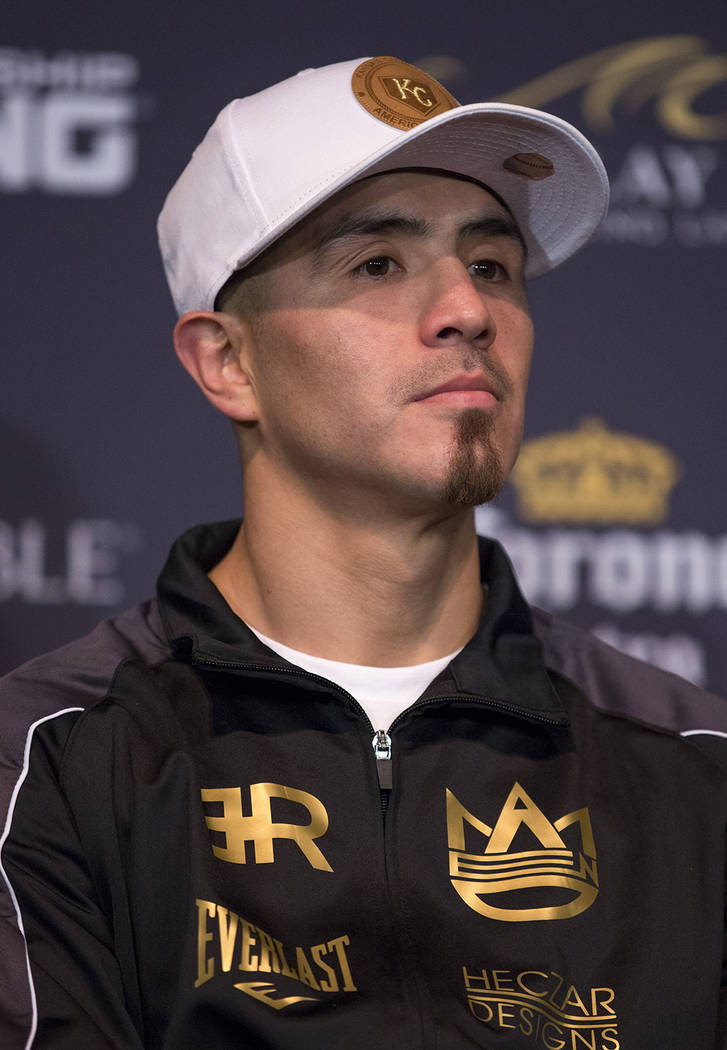 "Brandon Rios listens in during a press conference at the Mandalay Bay in Las Vegas on Thursday, Feb. 15, 2018.  Danny ""Swift'' Garcia (33-1, 19 KOs) and Brandon ÔBam BamÕ Rios ( ..."