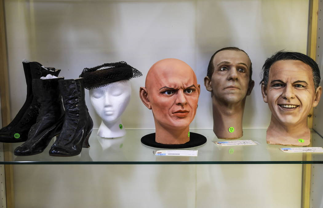 A view of some of the items for sale, which included almost 800 items collected by Debbie Reynolds and Carrie Fisher, at McManus Auctions in Las Vegas on Sunday, Feb. 11, 2018.  Andrea Cornejo Las ...