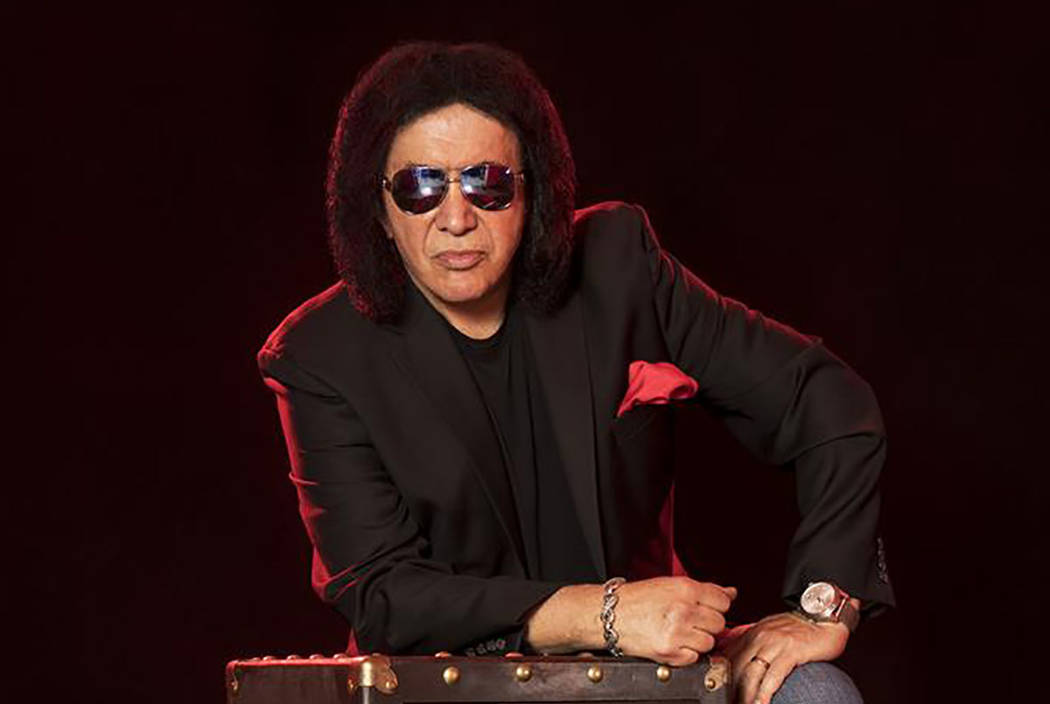 "Gene Simmons is shown with ""The Vault,"" his 10-CD collection of unreleased songs spanning his 50-year career. (GeneSimmonsTheVault.com)"