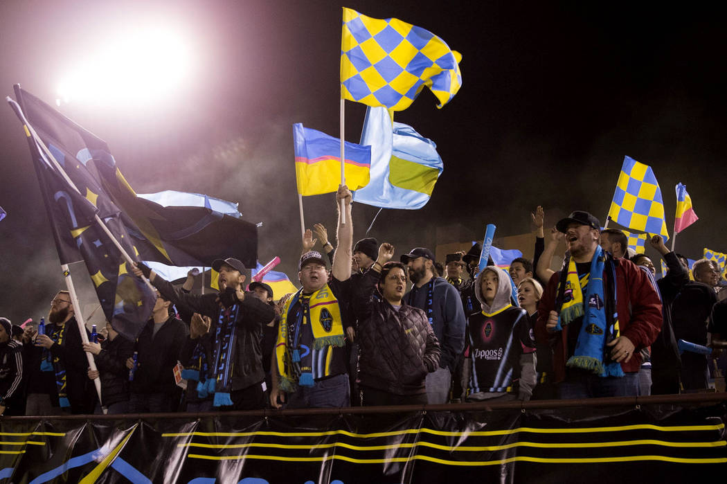 Las Vegas Lights FC Fans Cheer On Their Team In The Exhibition Match  Against Montreal Impact