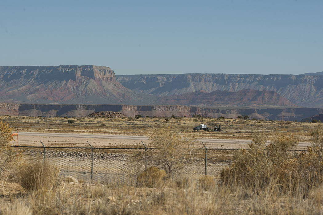 The Grand Canyon West Airport on the Hualapai Nation Indian Reservation in Arizona on Sunday, Feb. 11, 2018.  Patrick Connolly Las Vegas Review-Journal @PConnPie