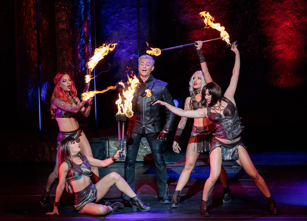 Performers are seen during Inferno at Paris hotel-casino in Las Vegas. (Erik Kabik Photography/ erikkabik.com)