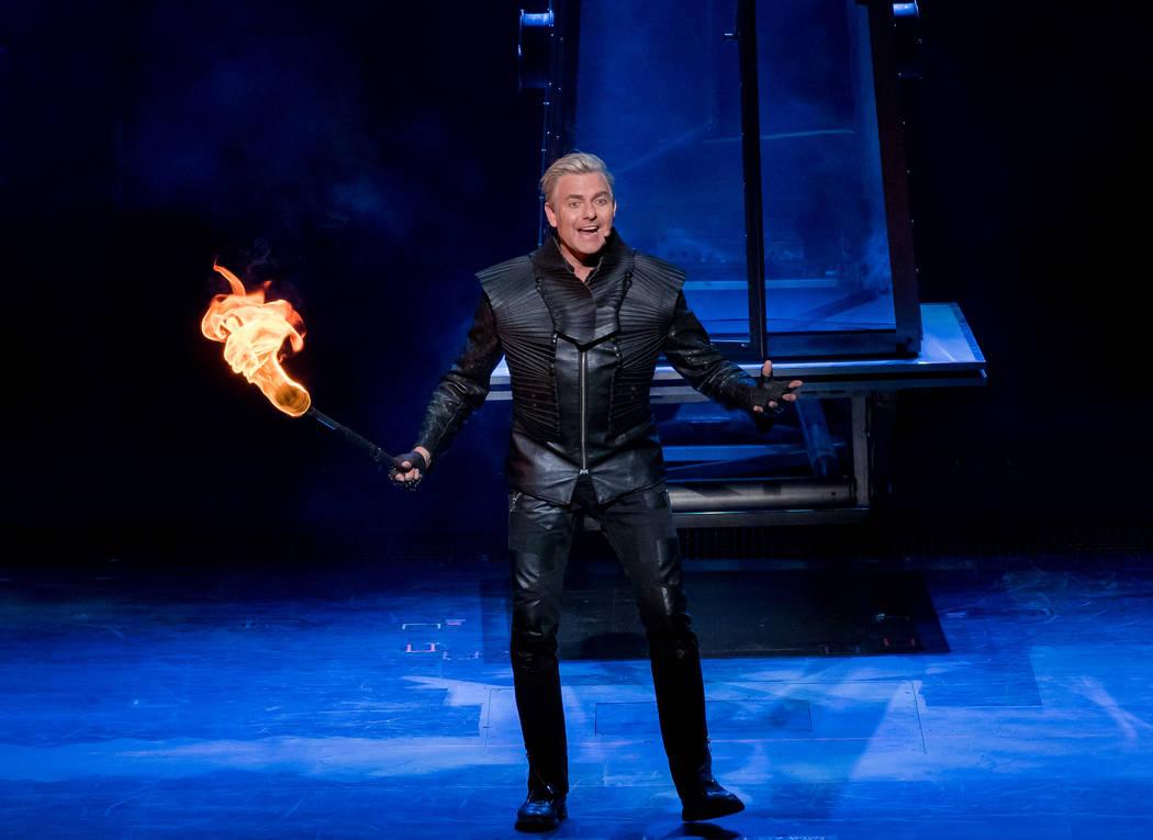 Joseph Labero performs during Inferno at Paris hotel-casino in Las Vegas. (Erik Kabik Photography/ erikkabik.com)