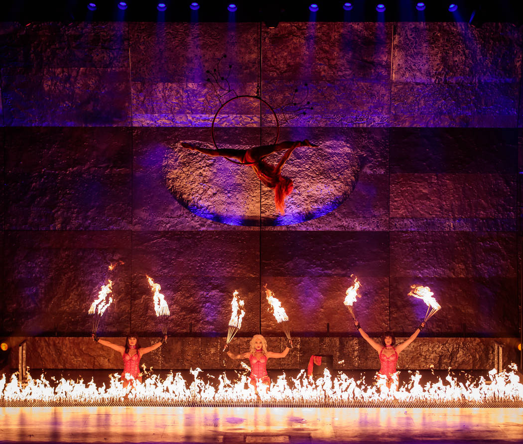 Performers are seen at Inferno at Paris hotel-casino in Las Vegas. (Erik Kabik Photography/ erikkabik.com)