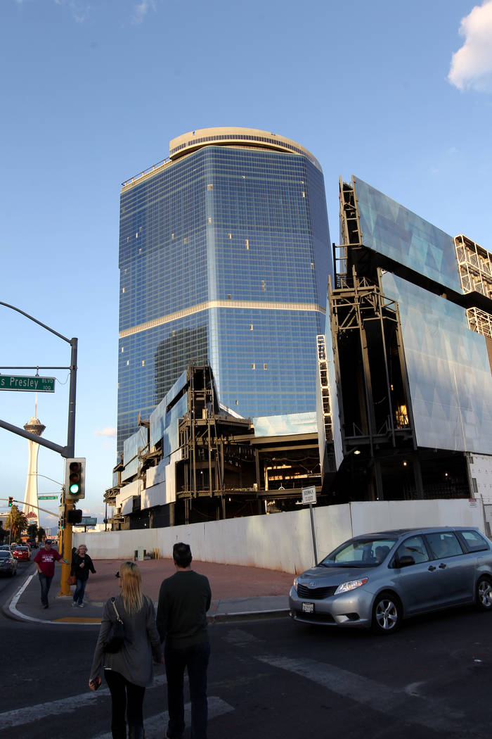 The unfinished former Fontainebleau, shown on the Strip Monday, Feb. 12, 2018, is now called The Drew Las Vegas and scheduled to open in late 2020. K.M. Cannon Las Vegas Review-Journal @KMCannonPhoto