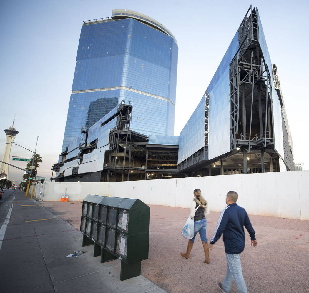 The unfinished Fontainebleau project on the Las Vegas Strip has a new name -- The Drew Las Vegas -- and its opening will be in late 2020. (Richard Brian/Las Vegas Review-Journal) @vegasphotograph