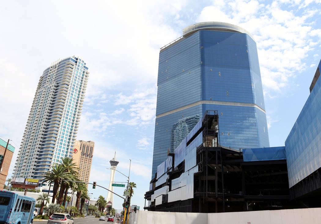 The unfinished Fontainebleau project on the Las Vegas Strip has a new name -- The Drew Las Vegas -- and its opening will be in late 2020. (Elizabeth Brumley/Las Vegas Review-Journal)