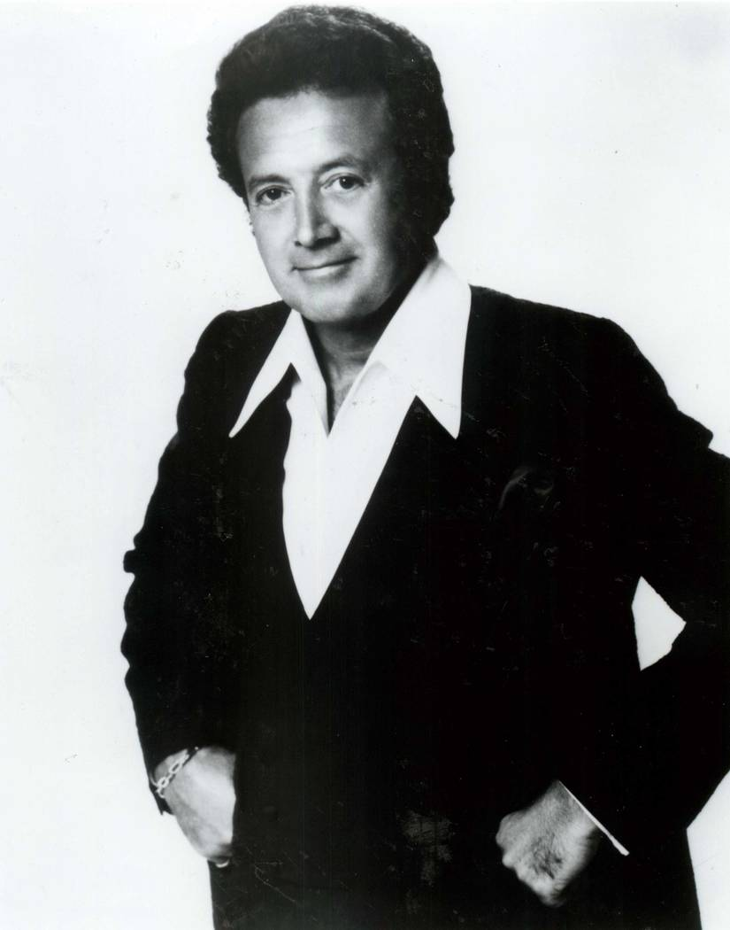 Vic Damone's publicity photo from the early 1980s. (Las Vegas Review-Journal file)