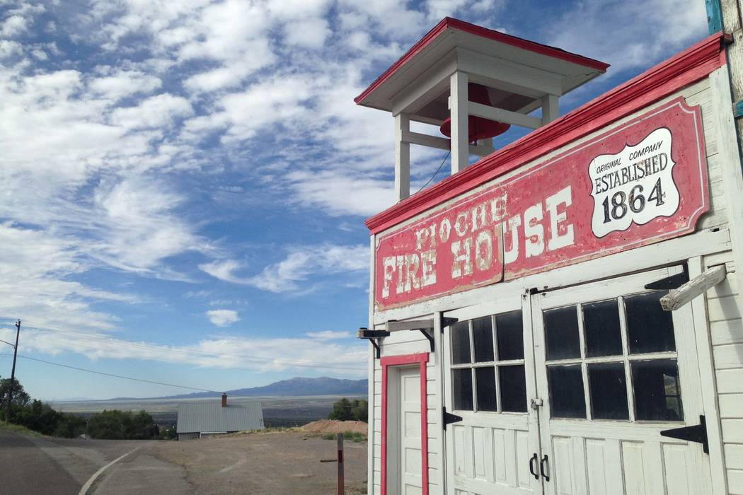 The Pioche Fire House been added to the National Register of Historic Places. (Henry Brean/Las Vegas Review-Journal)