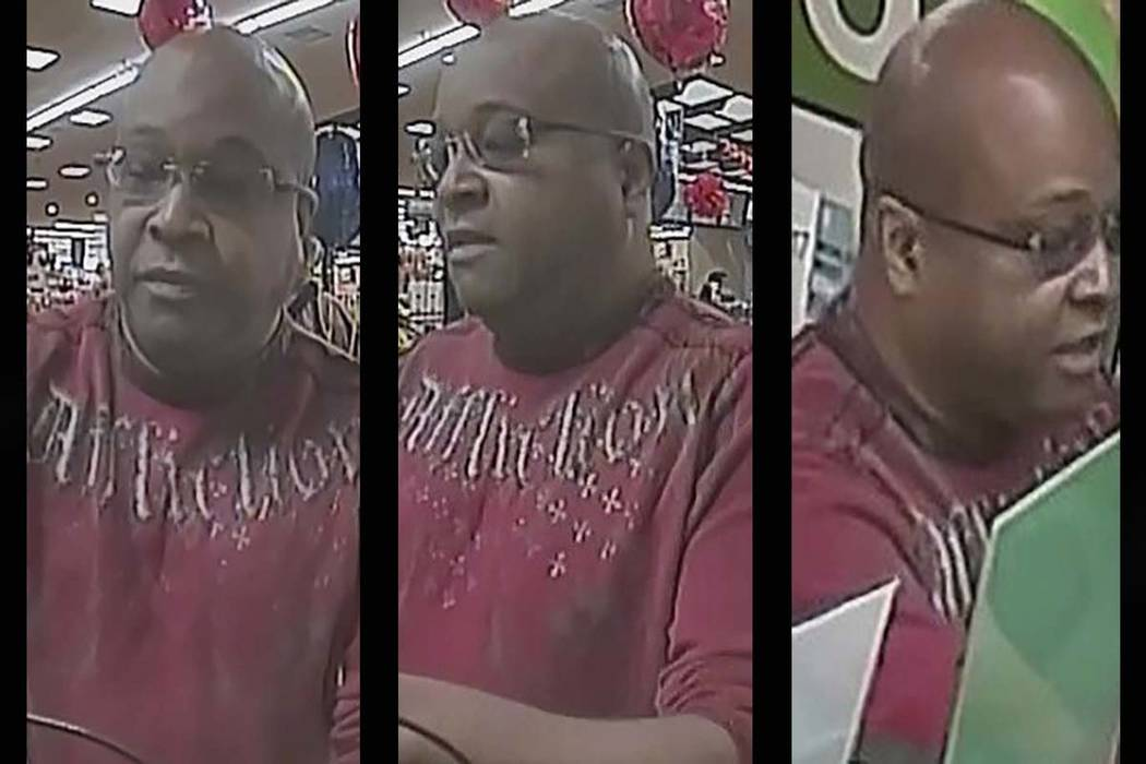 Henderson police are looking for a man suspected of robbing a bank last weekend. (Henderson Police Department)