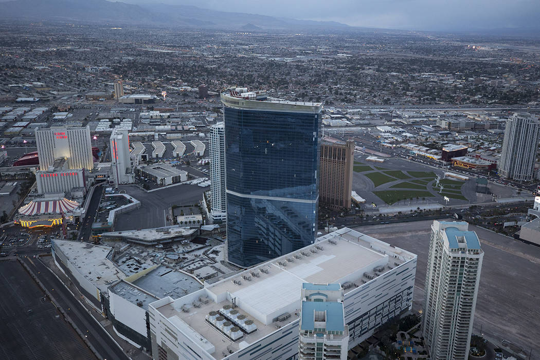 The Drew, formerly the Fontainebleau, on the Vegas Strip on Monday, Feb. 12, 2018. Richard Brian Las Vegas Review-Journal @vegasphotograph
