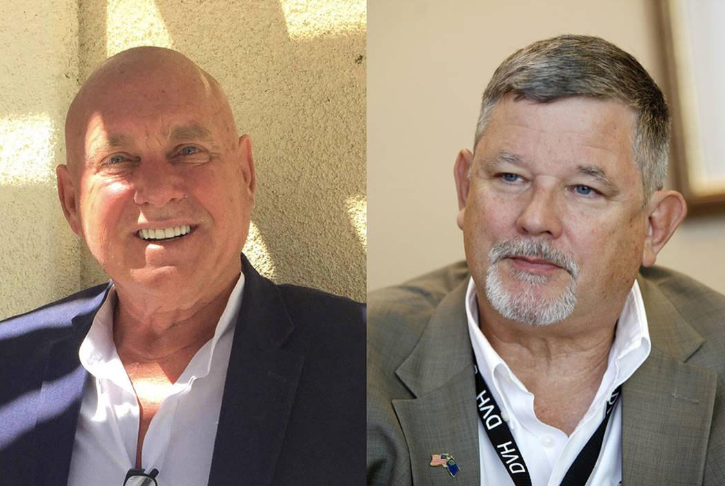 Dennis Hof, left, and James Oscarson (Las Vegas Review-journal)