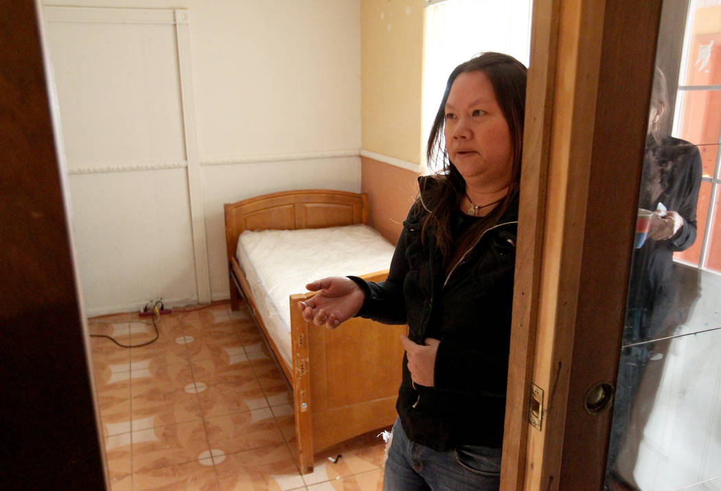 Treva Lee, 44, talks Feb. 19, 2018, about finding Rayshauna Roy dead in her room. She had just been released from North Vista Hospital after a Legal 2000 hold, which is issued when someone is cons ...