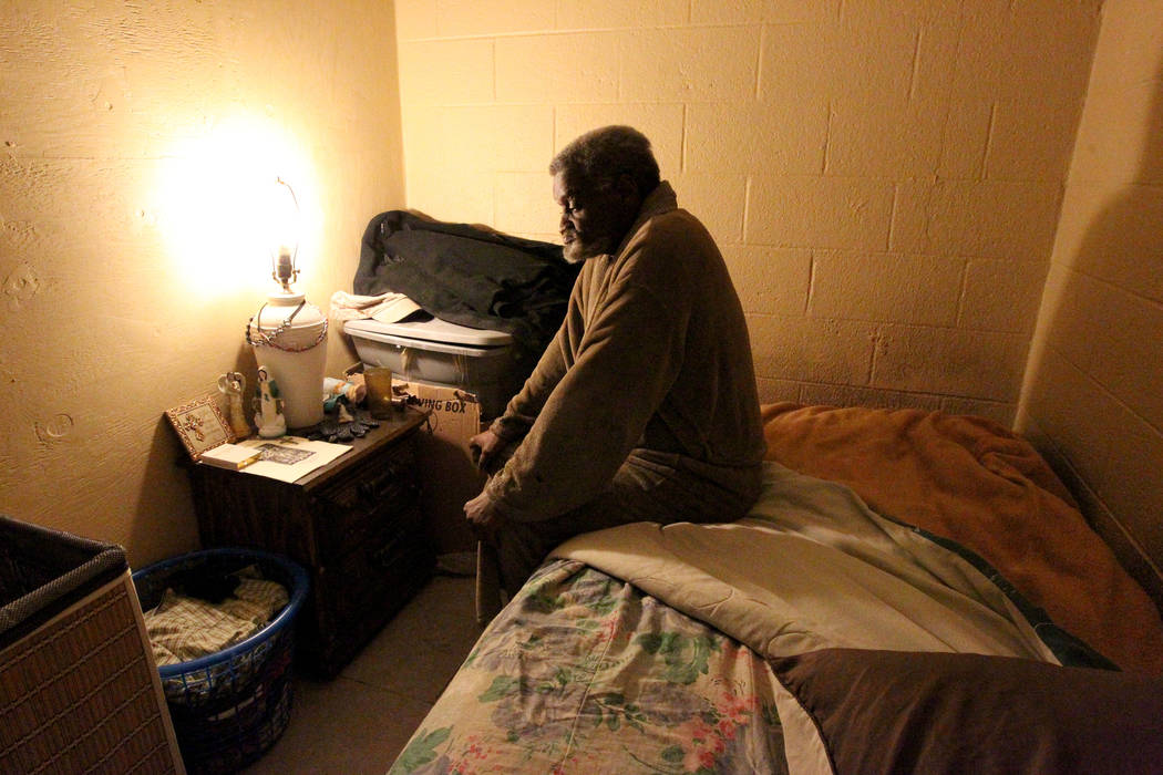 James Madison in his room in his Las Vegas home Feb. 19, 2018. Madison was placed in the unlicensed group home for people with mental illness by Eileen Lee. K.M. Cannon Las Vegas Review-Journal @K ...