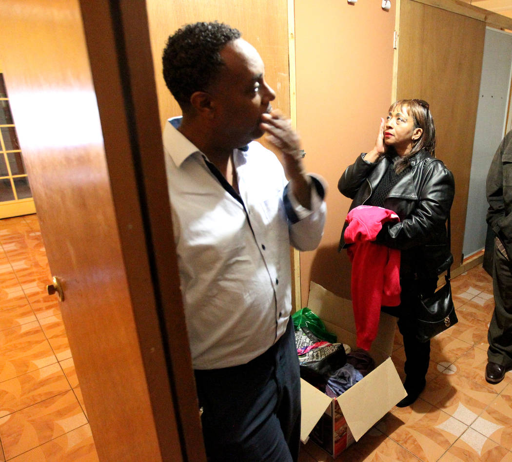 """The family of Rayshauna Roy, father Tony Wright, and mother Netshield Roy, go through her belongings Wednesday, Feb. 21, 2018, in her room of the Las Vegas """"independent living"""" h ..."""