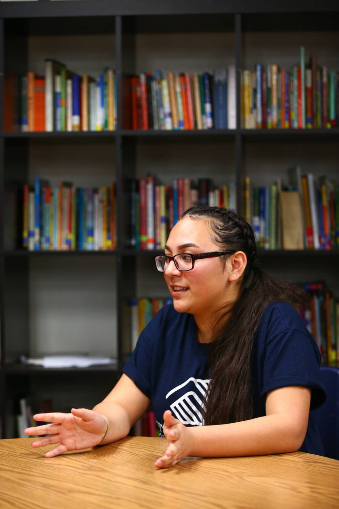 """Kaprice Burns, a 16-year-old student at Spring Valley High School, talks about her experience being named """"Youth of the Year"""" by the Boys & Girls Clubs of Southern Nevada at  ..."""