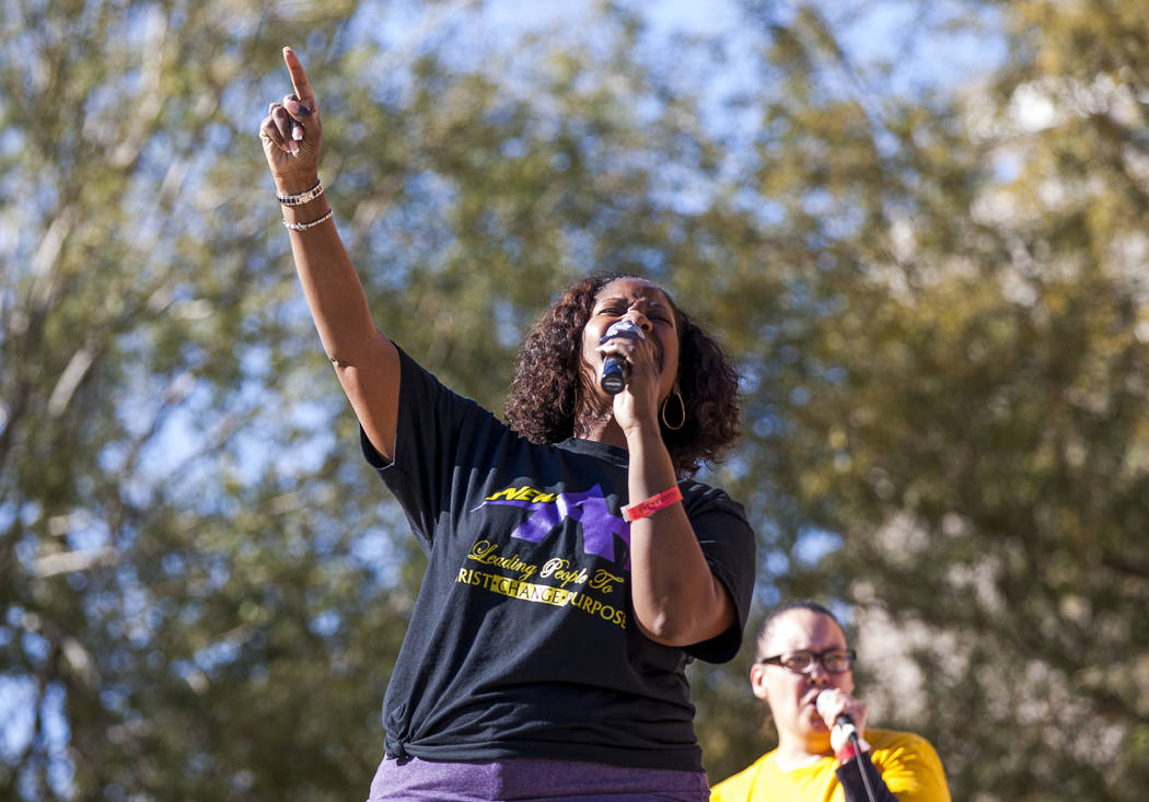 The New Antioch Christian Fellowship Praise Team performs during a celebration of Black History Month at the Springs Preserve on Saturday, Feb. 17, 2018.  Patrick Connolly Las Vegas Review-Journal ...