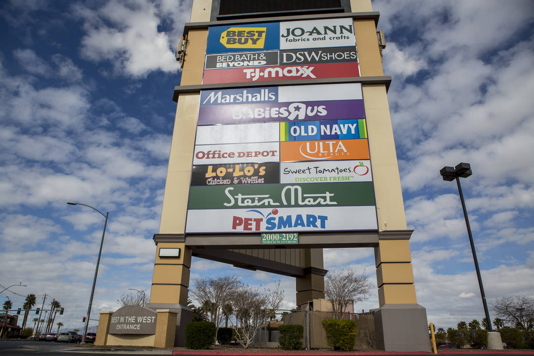 Best of the West, a strip mall on North Rainbow Boulevard in Las Vegas, on Tuesday, Feb. 13, 2018. The mall recently sold for $87 million. (Patrick Connolly/Las Vegas Review-Journal) @PConnPie