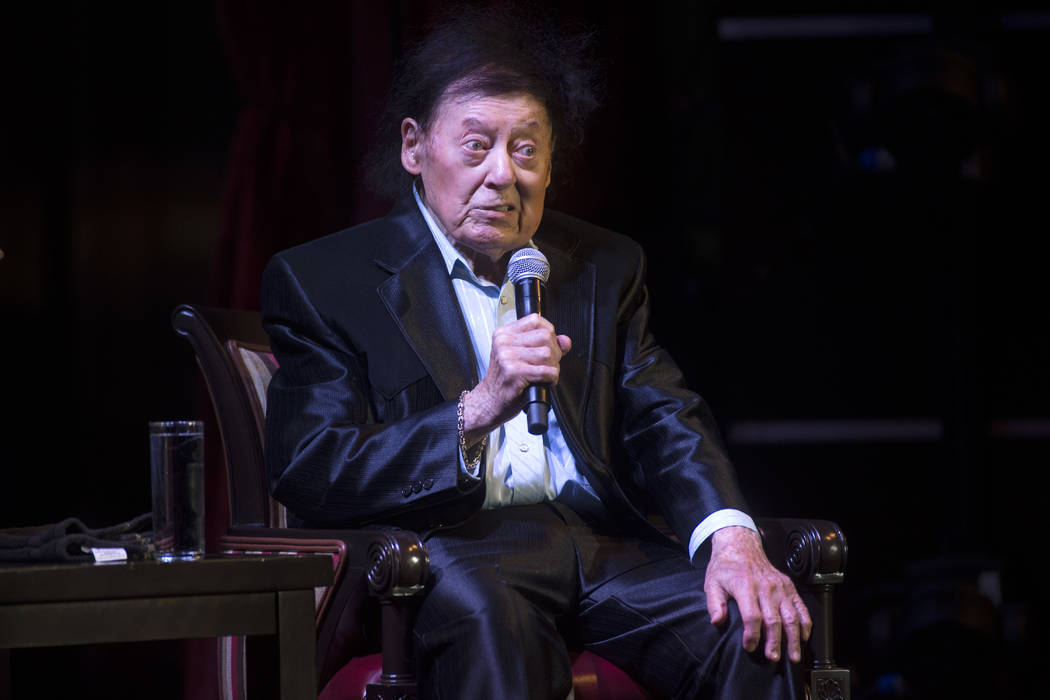 Comedian Marty Allen celebrates his 95th birthday with a show at South Point on Thursday, March 23, 2017, in Las Vegas. (Sam Morris/Las Vegas News Bureau)