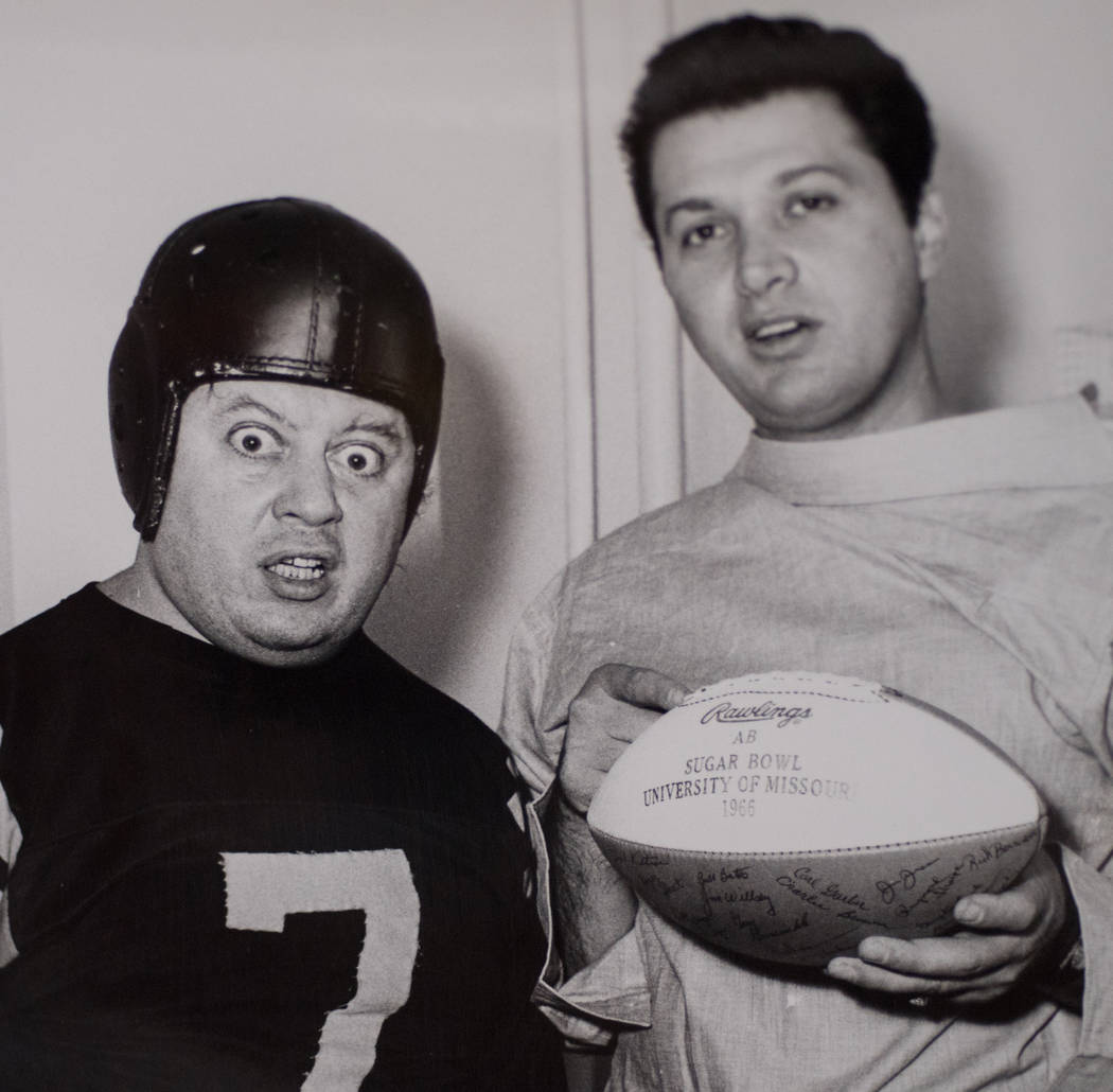 Marty Allen and Steve Rossi are shown in this 1966 photo during a promotional shoot after the University of Missouri won the the Sugar Bowl. (Tom Donoghue)