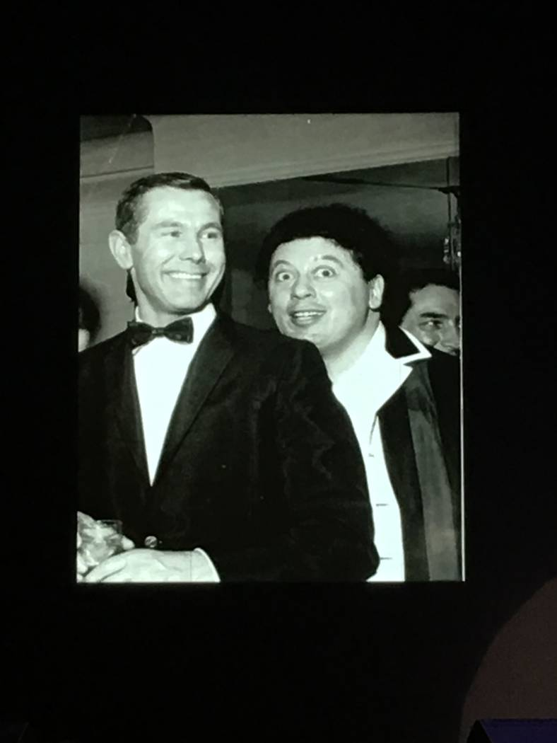 Johnny Carson and Marty Allen are shown in the early 1960s in Las Vegas. (Marty Allen)