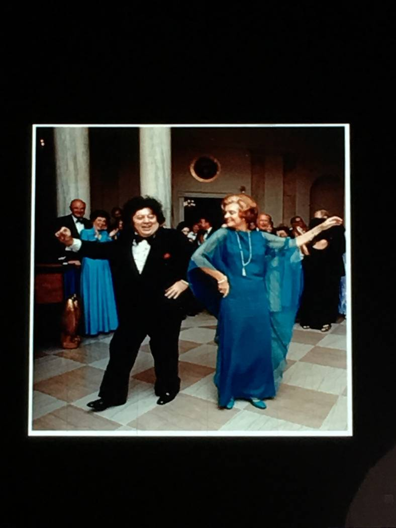 Marty Allen is shown dancing with First Lady Betty Ford in the White House in 1974. (Marty Allen)