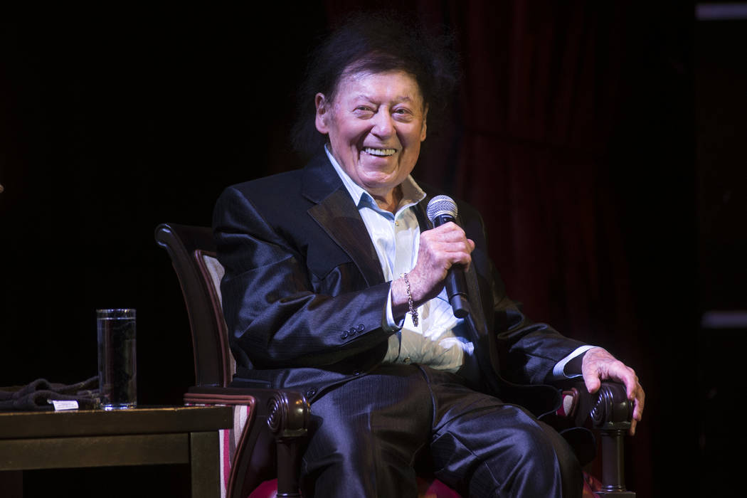 Comedian Marty Allen celebrates his 95th birthday with a show at the South Point Thursday, March 23, 2017. (Sam Morris/Las Vegas News Bureau)