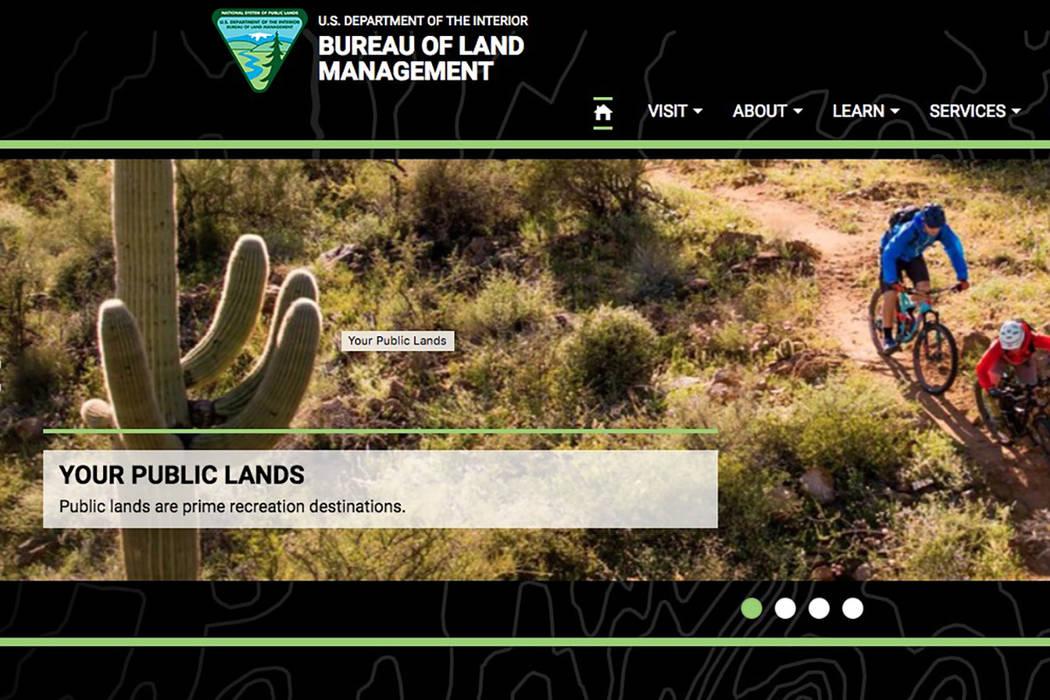 Bureau of Land Managment (Screenshot/www.blm.gov)