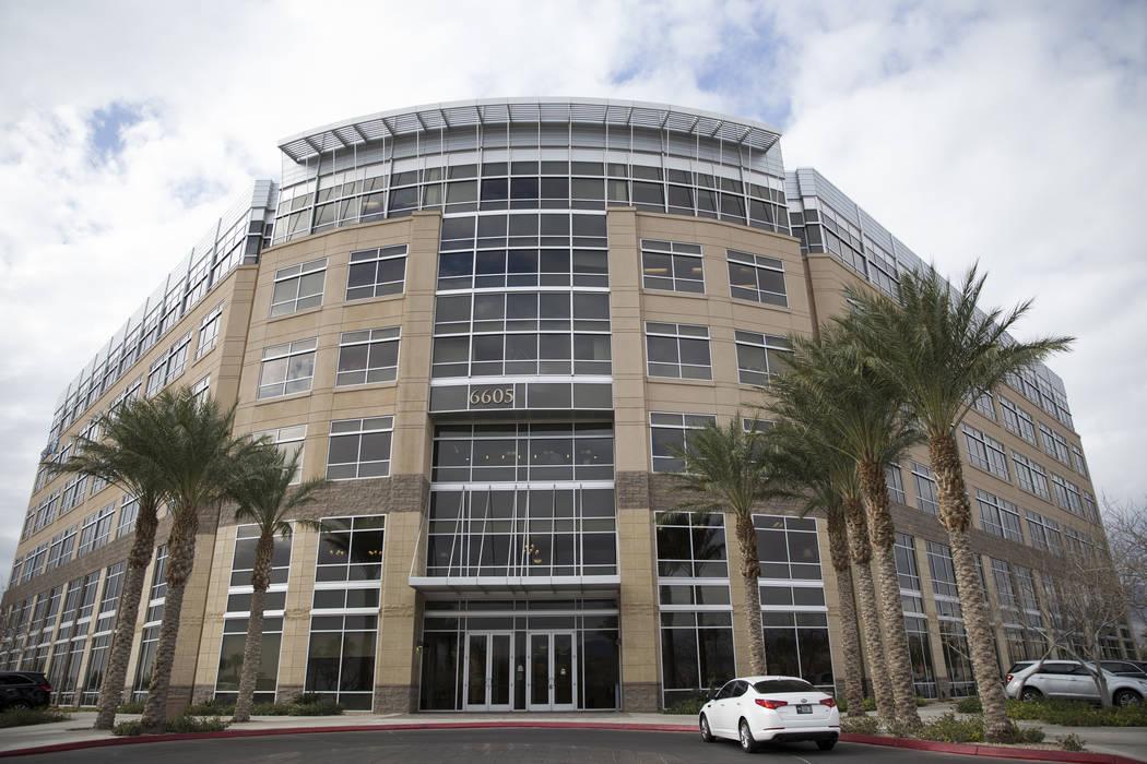 An office building at 6605 Grand Montecito Parkway in Las Vegas which recently sold, Wednesday, Feb. 14, 2018. (Erik Verduzco/Las Vegas Review-Journal @Erik_Verduzco)