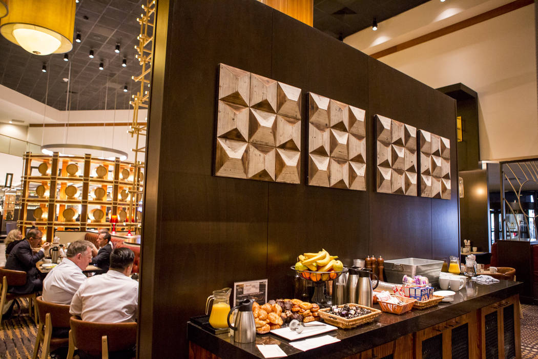 Breakfast foods sit out at the new restaurant Jake & Eli, which replaced the casino floor at the Westin Las Vegas, on Wednesday, Feb. 14, 2018. (Patrick Connolly/Las Vegas Review-Journal) @PCo ...