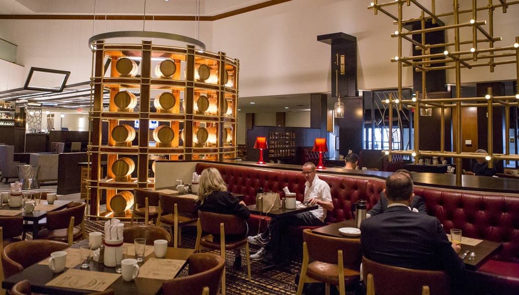 Customers eat breakfast at the new restaurant Jake & Eli, which replaced the casino floor at the Westin Las Vegas, on Wednesday, Feb. 14, 2018. (Patrick Connolly/Las Vegas Review-Journal) @PCo ...