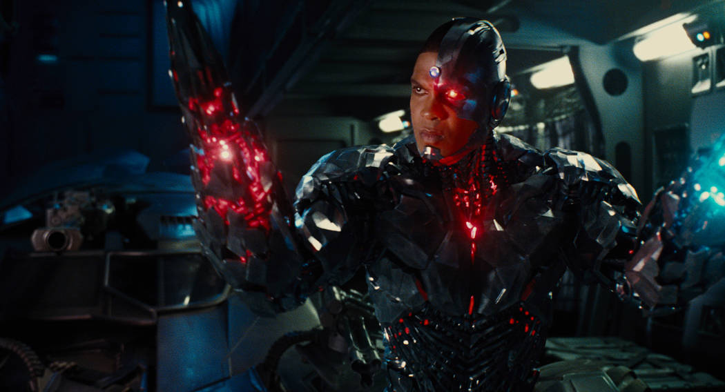 "RAY FISHER as Cyborg in ""JUSTICE LEAGUE,"" a Warner Bros. Pictures release."