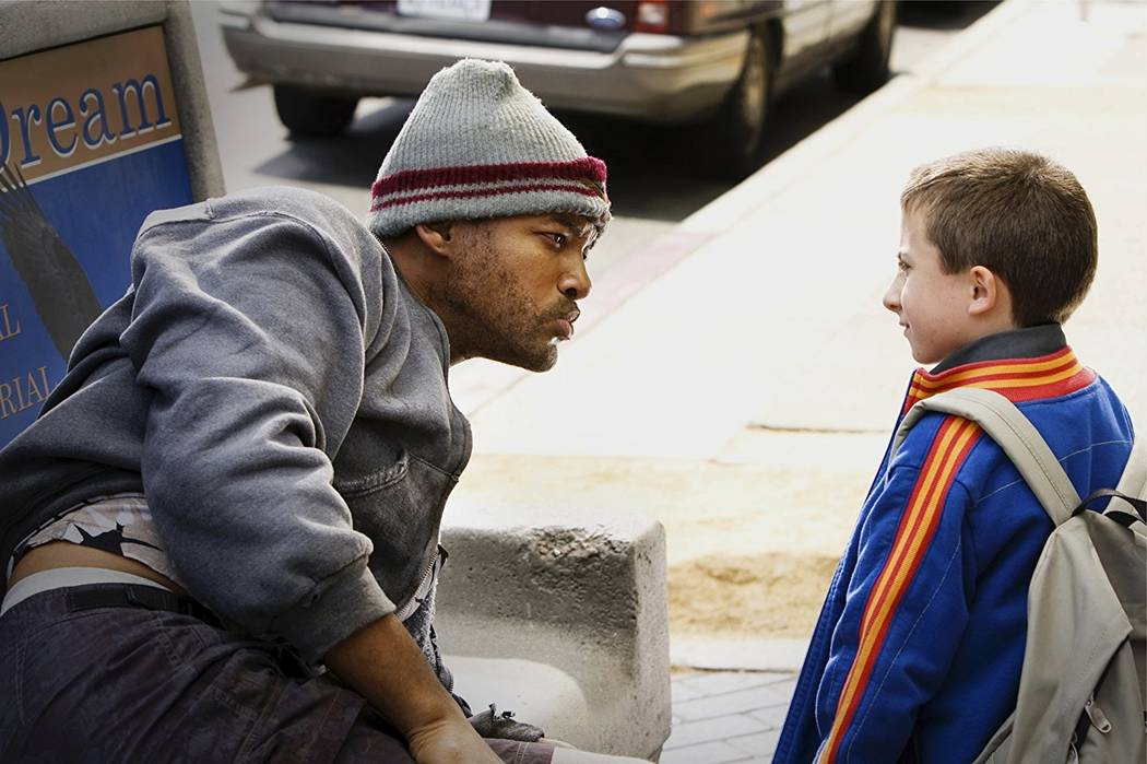 "Will Smith and Atticus Shaffer appear in a scene from ""Hancock."" (Columbia/TriStar)"