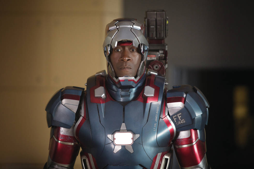 """Marvel's Iron Man 3""..James Rhodes/Iron Patriot (Don Cheadle)..Ph: Zade Rosenthal..© 2012 MVLFFLLC.  TM & © 2012 Marvel.  All Rights Reserved."