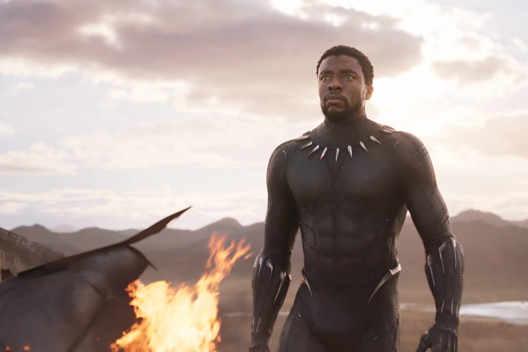 Marvel Studios'Marvel's 'Black Panther' balances message with plenty of action  T'Challa/Black Panther (Chadwick Boseman)..Ph: Film Frame..©Marvel Studios 2018