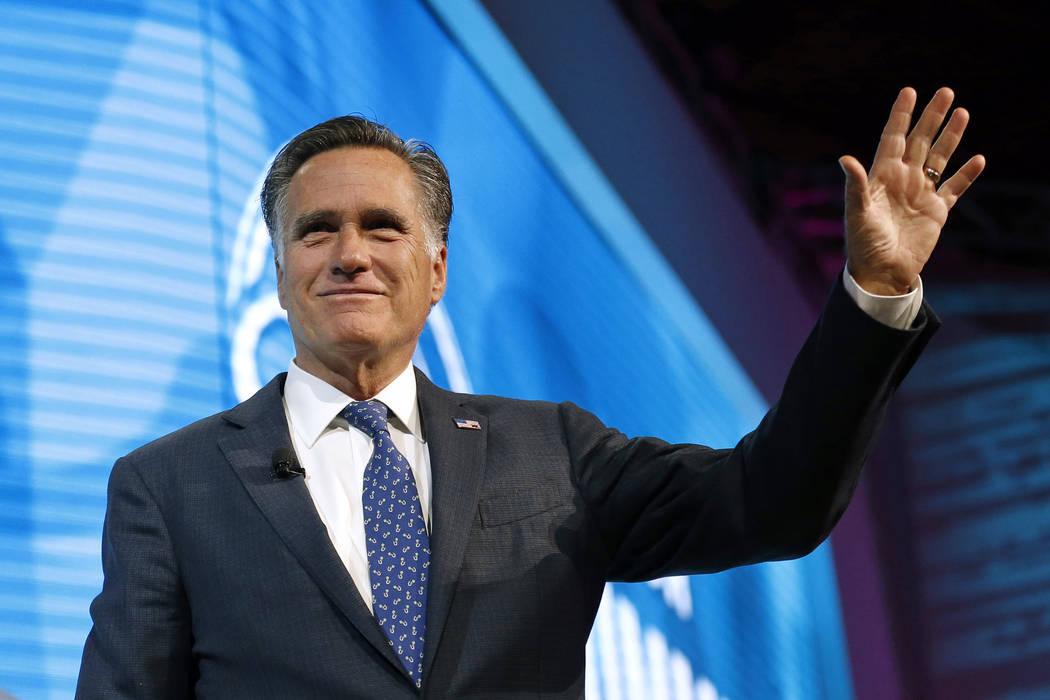 Former Republican presidential candidate Mitt Romney. (AP Photo/Rick Bowmer)