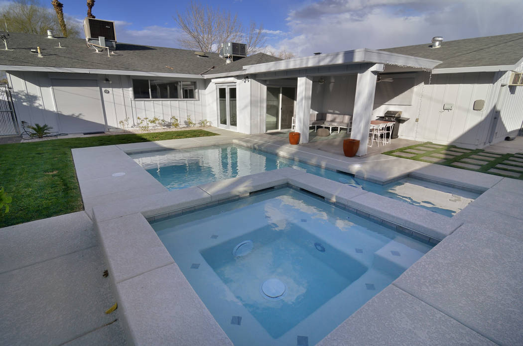 The home has a pool and spa area. (Bill Hughes Real Estate Millions)