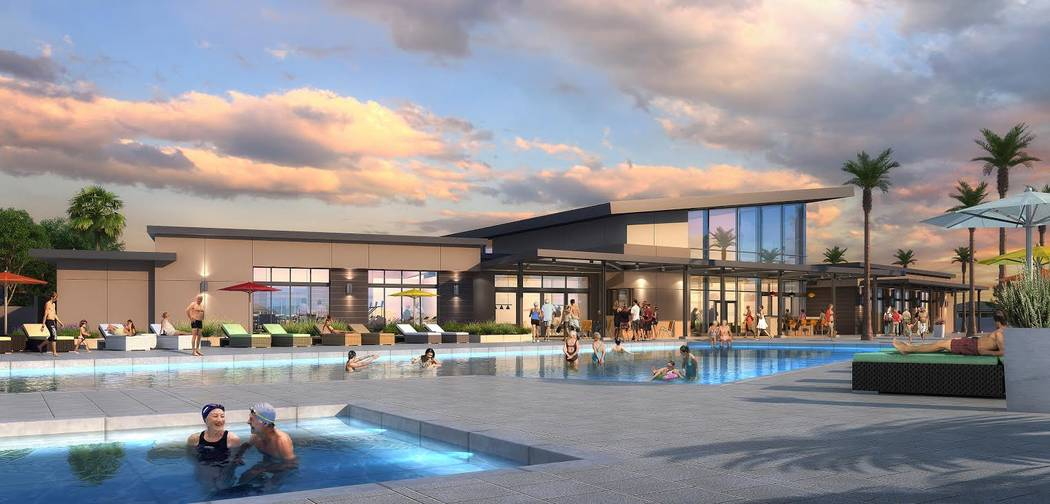 Ovation at Mountain Falls in Pahrump by William Lyon Homes is an age-qualified community. This is an artist's rendering of what it will look like when it opens in the spring. (William Lyon Homes)