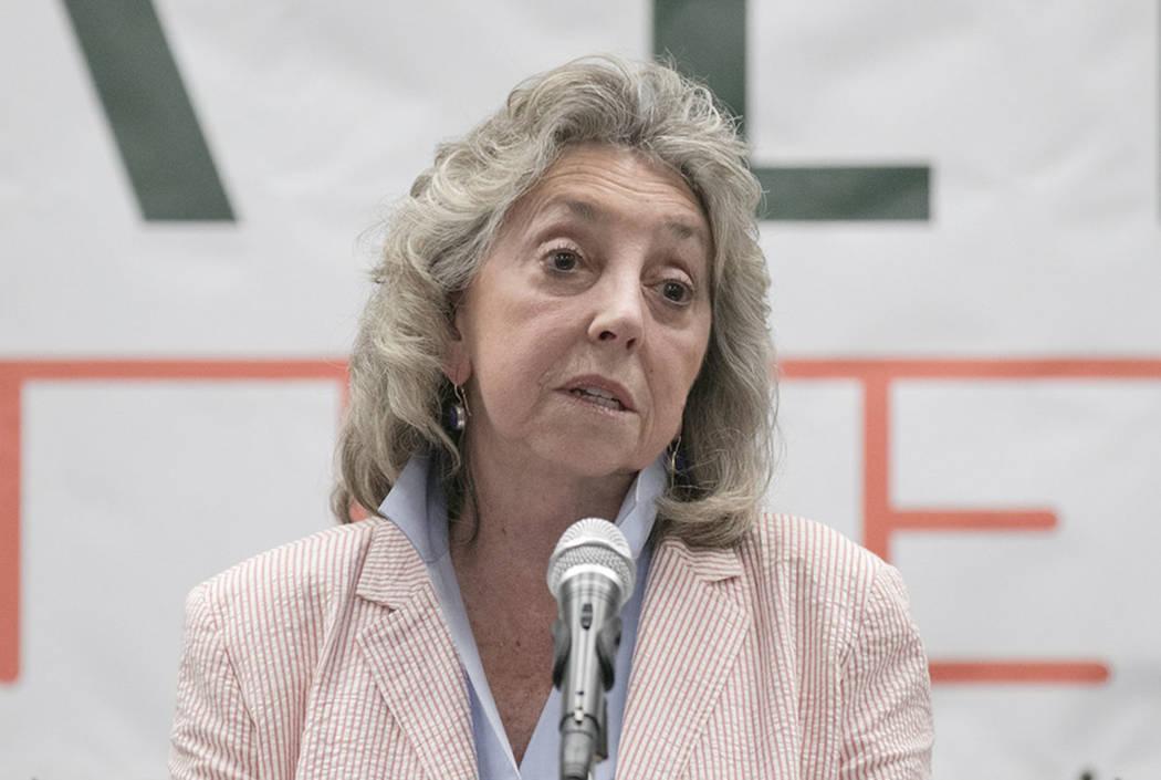 Congresswoman Dina Titus, seen at UNLV in 2017.  (Las Vegas Review-Journal)