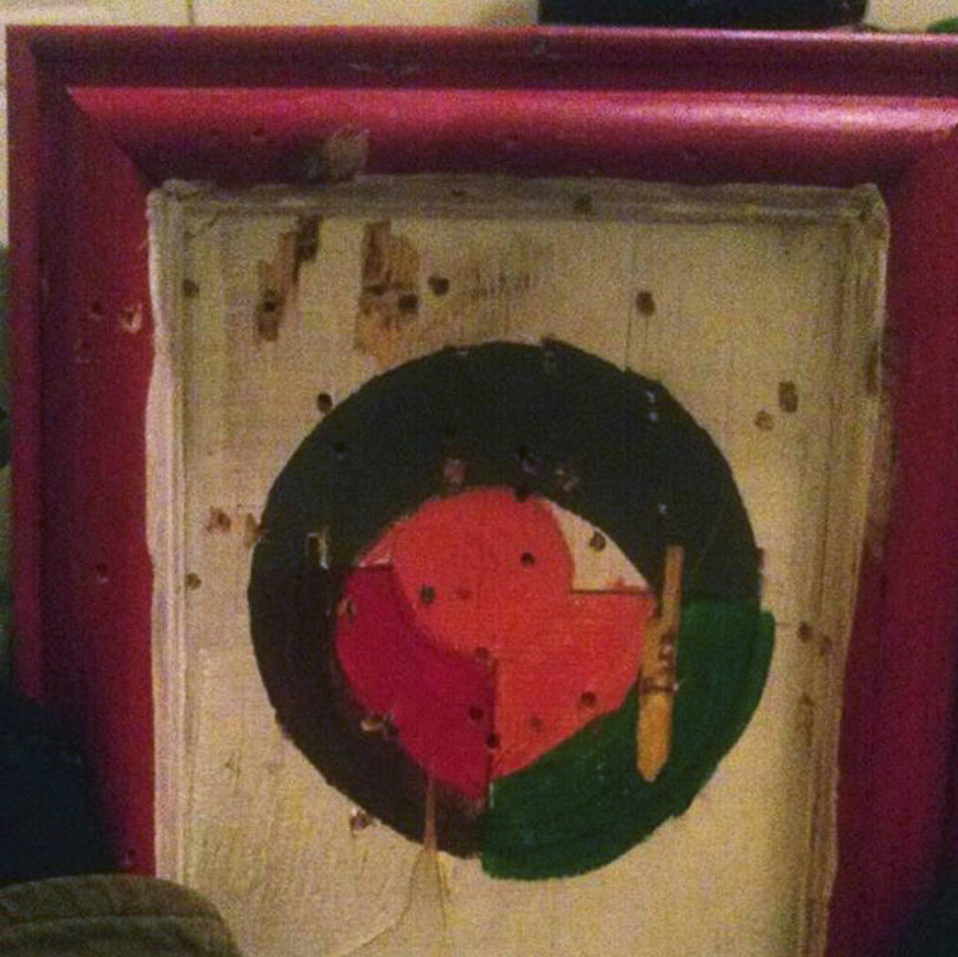 This photo posted on the Instagram account of Nikolas Cruz shows a target with bullet holes. Cruz was charged with 17 counts of premeditated murder on Thursday, Feb. 15, 2018, the day after openin ...