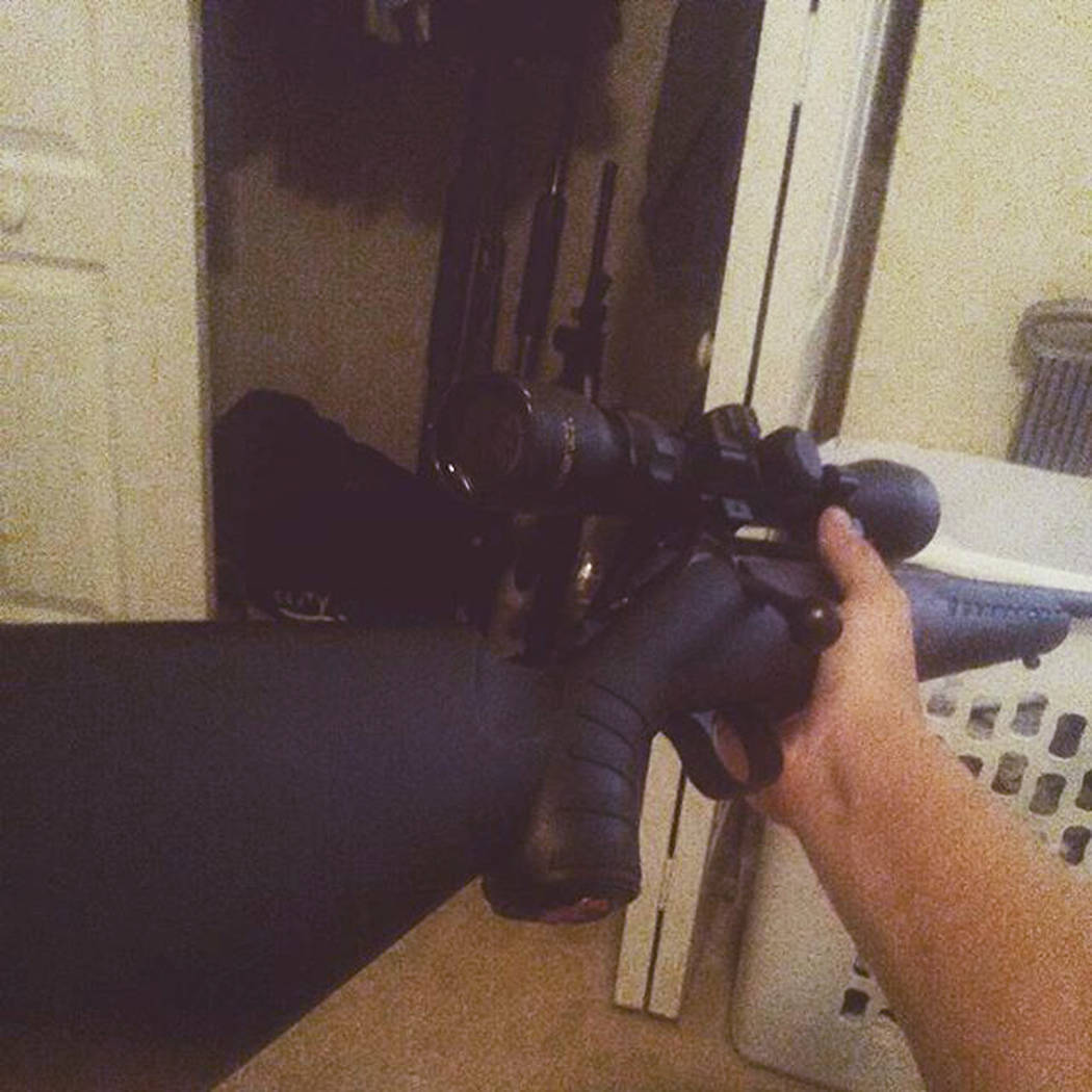 This photo posted on the Instagram account of Nikolas Cruz shows a weapon being held. Cruz was charged with 17 counts of premeditated murder on Thursday, Feb. 15, 2018, the day after opening fire  ...