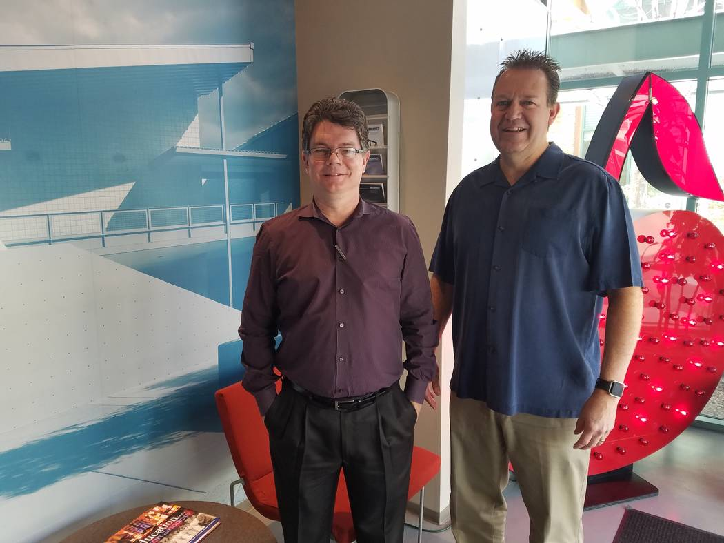 Sean Coulter and Wade Simpson are the principals of Simpson Coulter Studio in Las Vegas, shown Feb. 1, 2018 at their office. Richard N. Velotta/Las Vegas Review-Journal