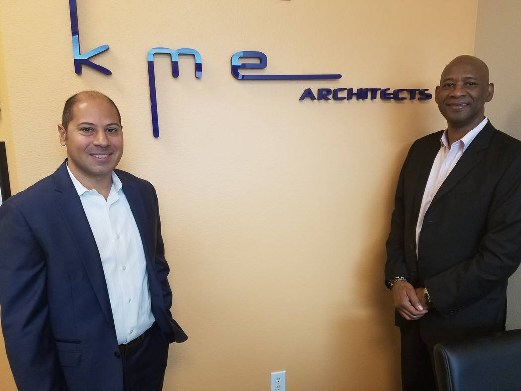 Emanuele Arguelles and Mel Green are the principals of KME Architects in Las Vegas, shown Feb 1, 2018 at their office. Richard N. Velotta/Las Vegas Review-Journal