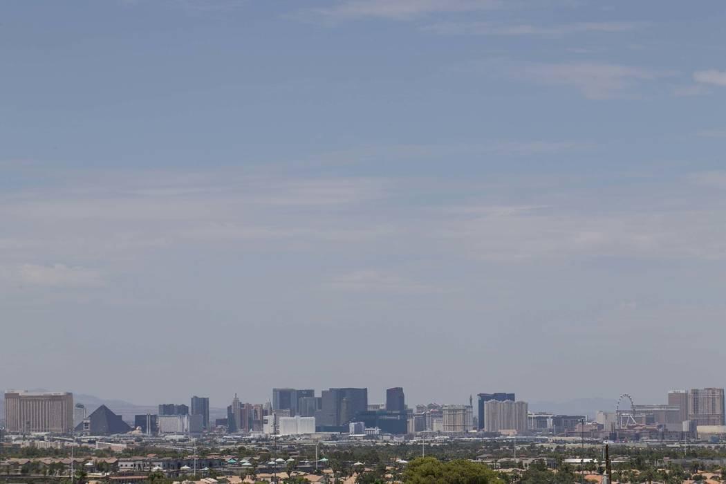 The Las Vegas Strip skyline as seen from Henderson. (Richard Brian/Las Vegas Review-Journal) @vegasphotograph