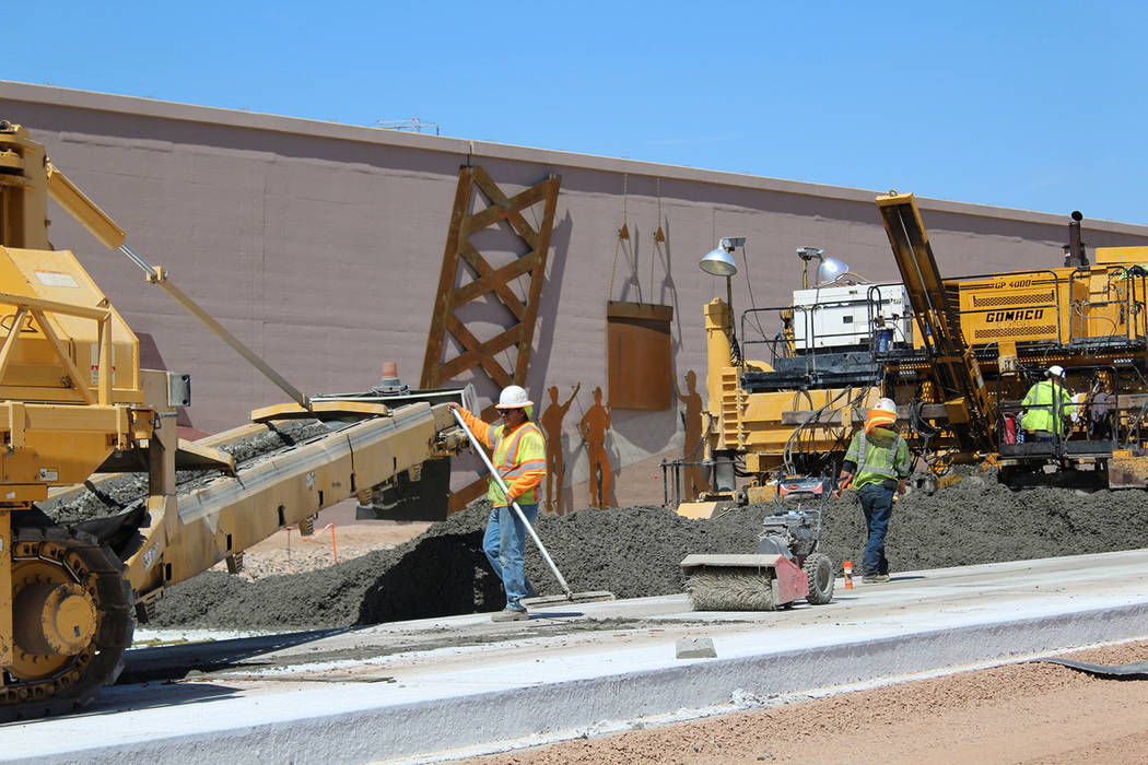 As construction continues on Interstate 11 near Boulder City, another segment will open to the public on Tuesday. Motorists will be allowed to drive through a new freeway interchange at Railroad P ...